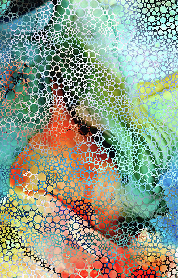 Guru Painting - Colorful Mosaic Art - Guru - Sharon Cummings by Sharon Cummings
