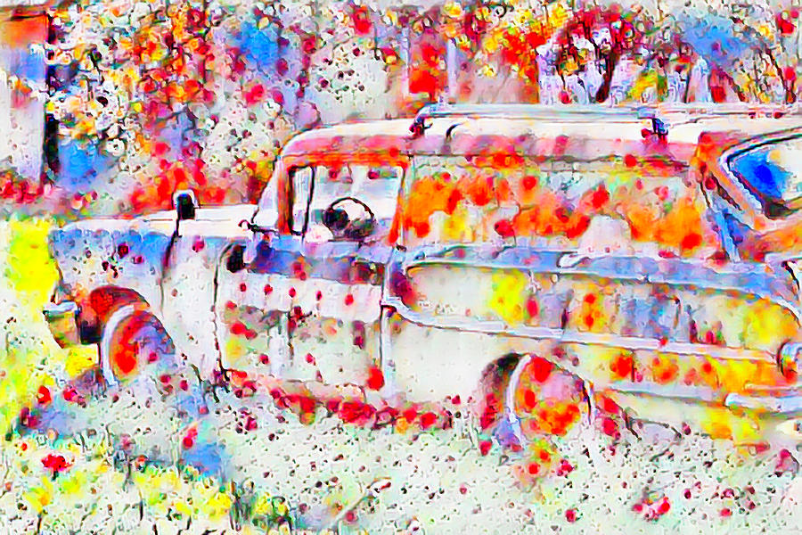 Colorful old belair by Cathy Anderson