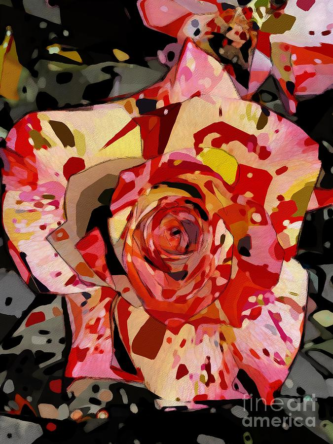 Rose Photograph - Colorful Rose Cubistic by Katherine Erickson