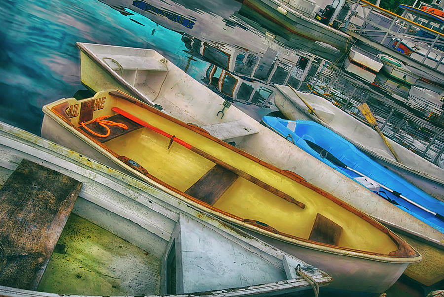 Colorful Rowboats In Perkins Cove, Maine Photograph
