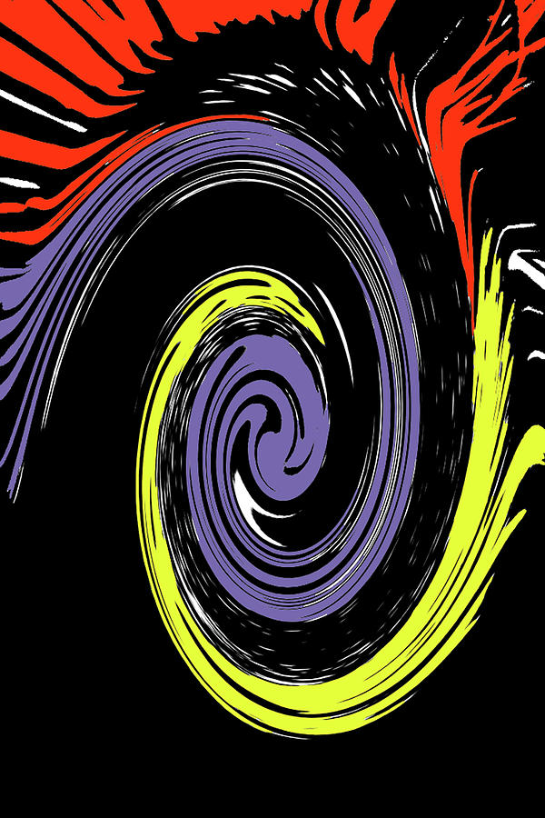 Abstract Photograph - Colorful Swirl by Holly Morris