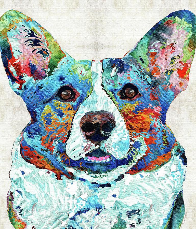 Welsh Corgi Painting - Colorful Welsh Corgi Dog Art - Sharon Cummings by Sharon Cummings