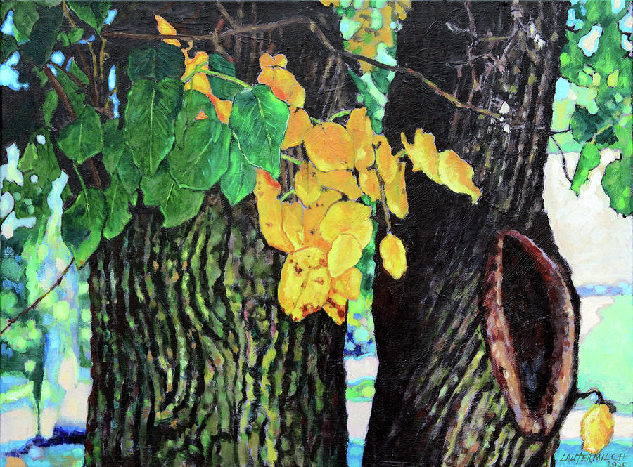 Autumn Painting - Colors and Shapes of Autumn by John Lautermilch