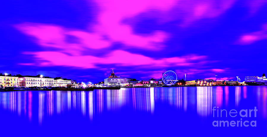 Colors From The Darkness At The Port Of Helsinki Photograph