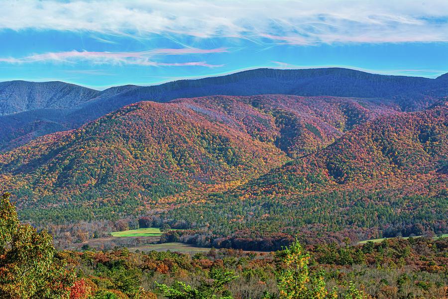 Colors of Autumn Smoky Mountains by Douglas Wielfaert