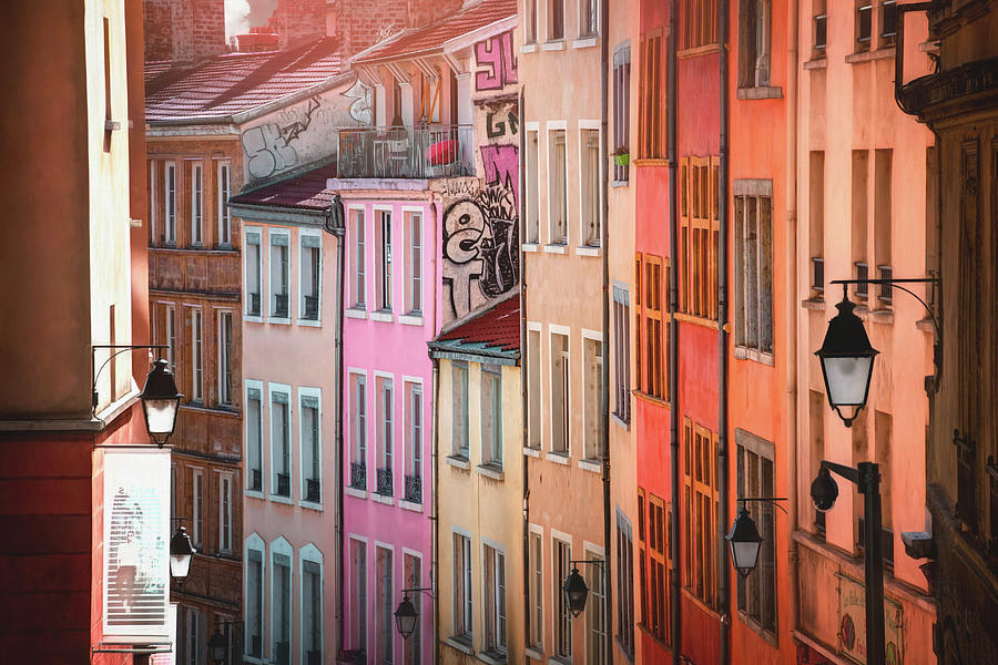 Vibrant Colors Of Old Lyon France Photograph