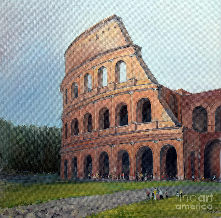 Colloseum Painting - Colosseum by Igal Kogan