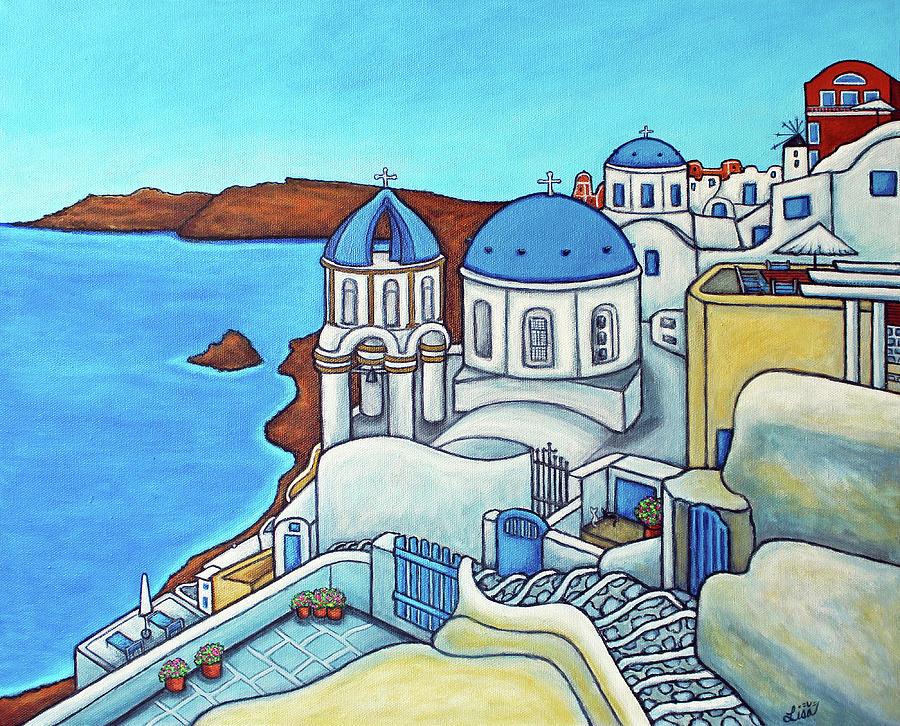 Colours of Santorini by Lisa Lorenz