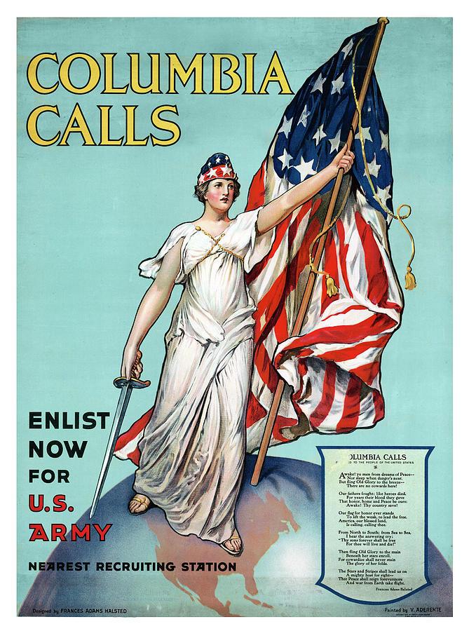 Columbia Calls Poster by Carlos Diaz