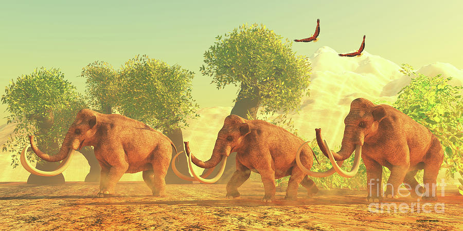 Columbian Mammoth Day Digital Art