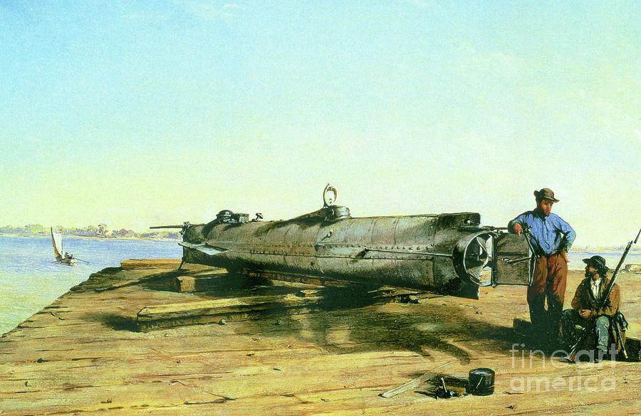 Combat Submarine - Hunley Photograph