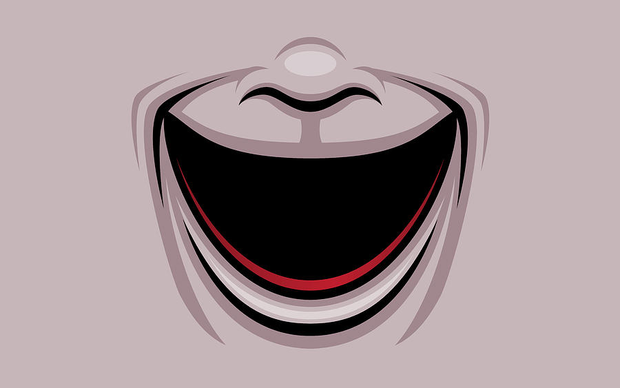 Comedy Theater Mask Digital Art