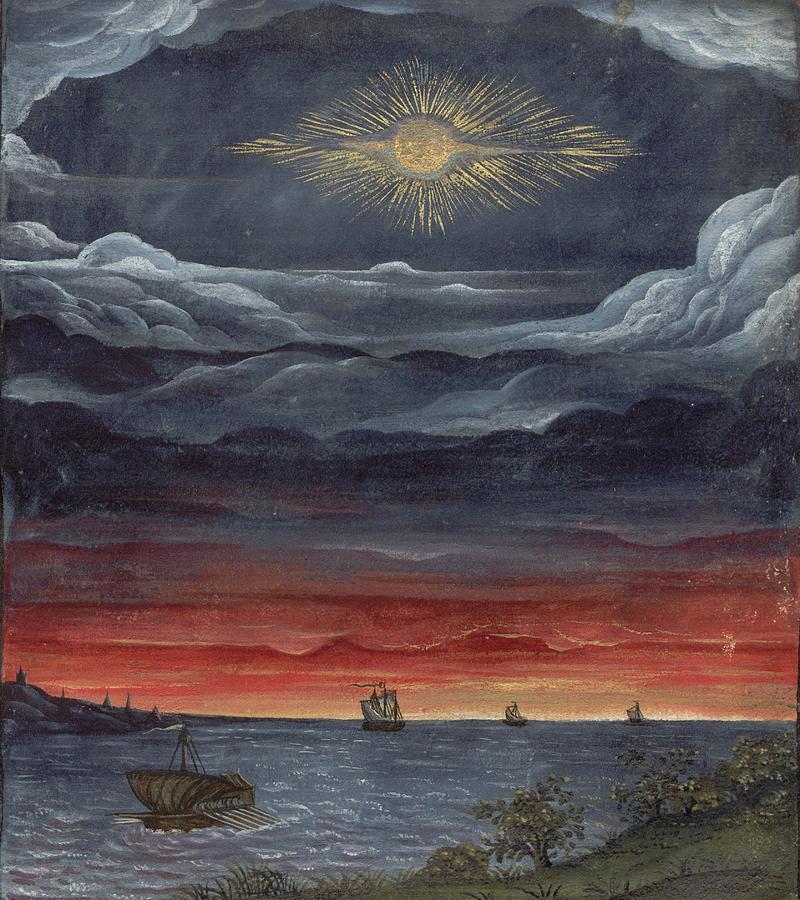 Comet Gebea Painting