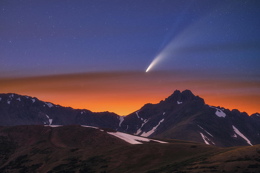 Comet Neowise Over The Citadel Photograph