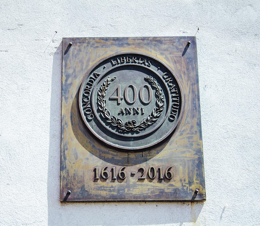 Commemorative Plate 400 Years Photograph
