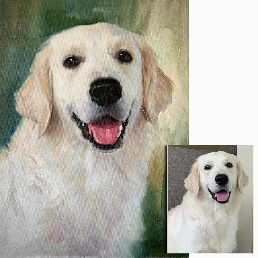 Pet Portrait on canvas Commissioned