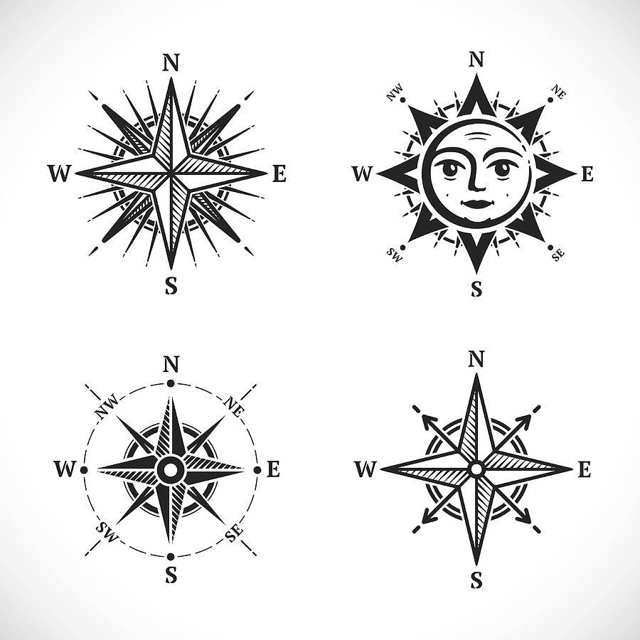 Compass set Drawing by GoodGnom