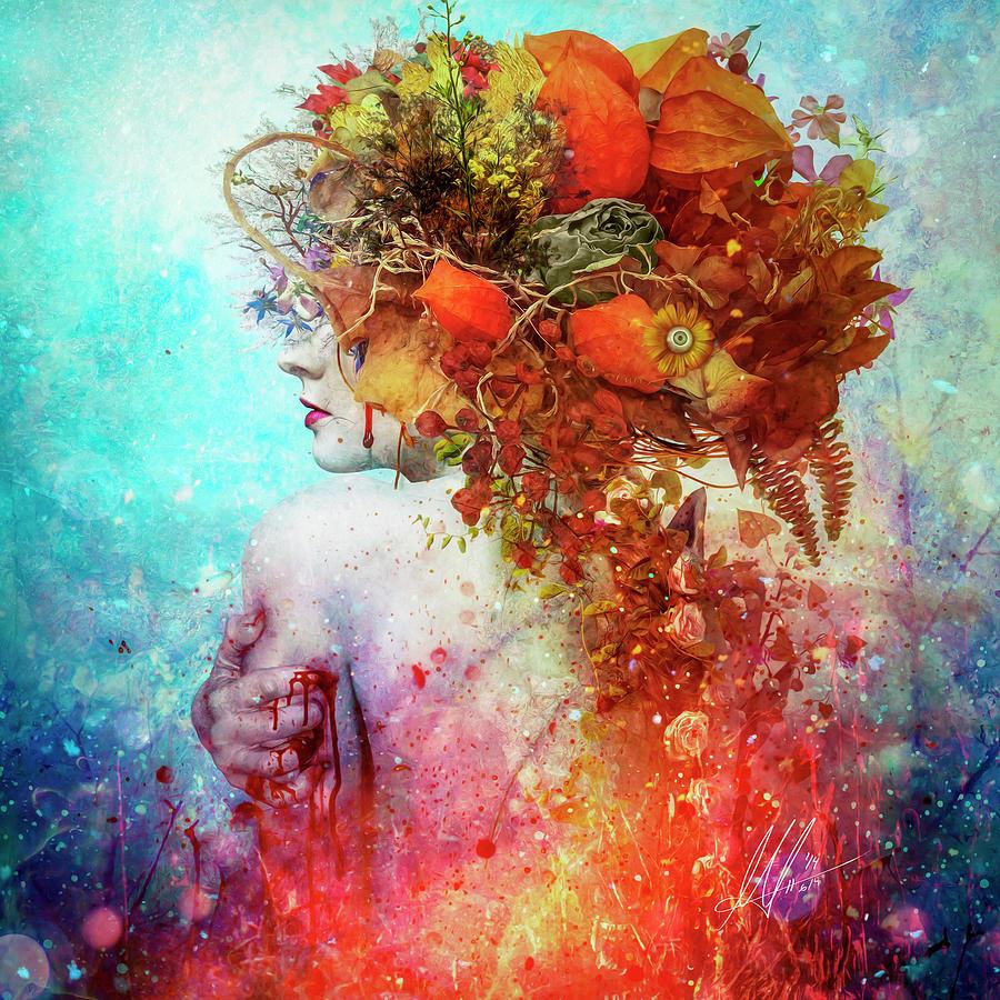 Surreal Digital Art - Compassion by Mario Sanchez Nevado