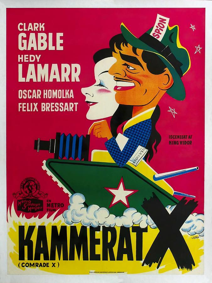 comrade X, With Clark Gable And Hedy Lamarr, 1940 -2 Mixed Media