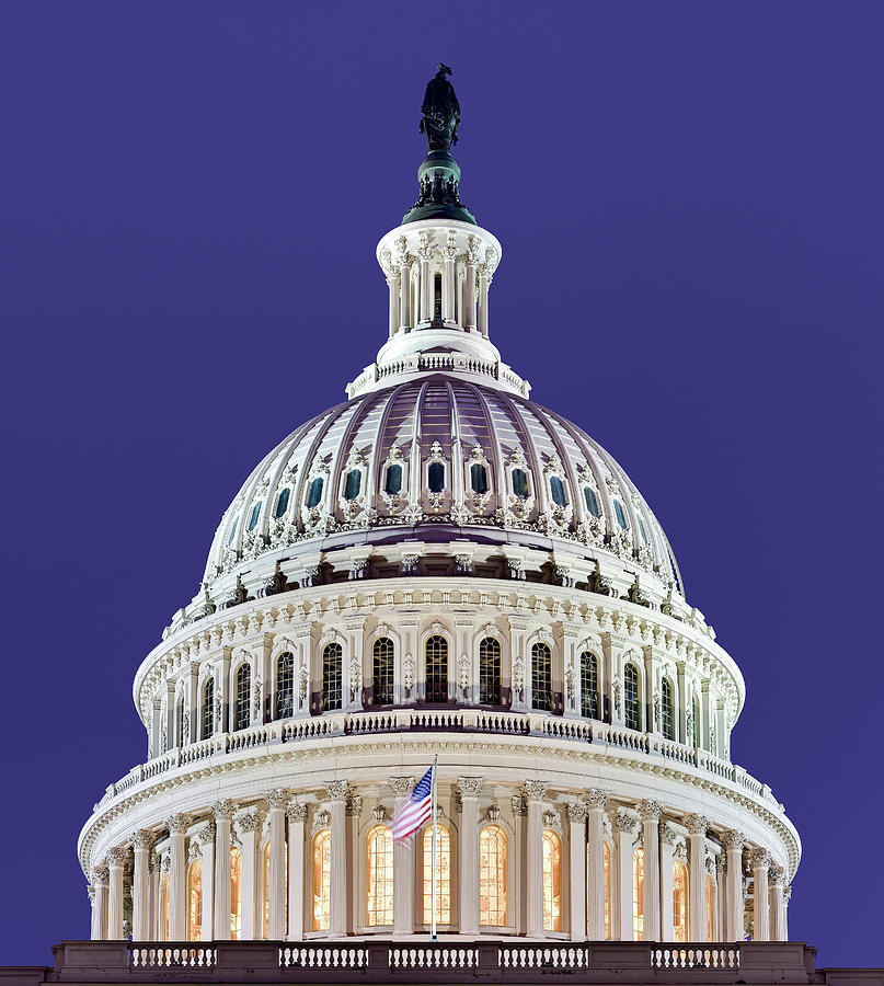 Conceived In Liberty - The Us Capitol Dome Photograph