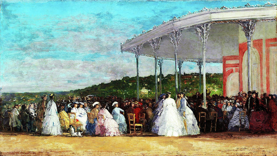 Eugene Louis Boudin Painting - Concert At The Casino Of Deauville - Digital Remastered Edition by Eugene Louis Boudin