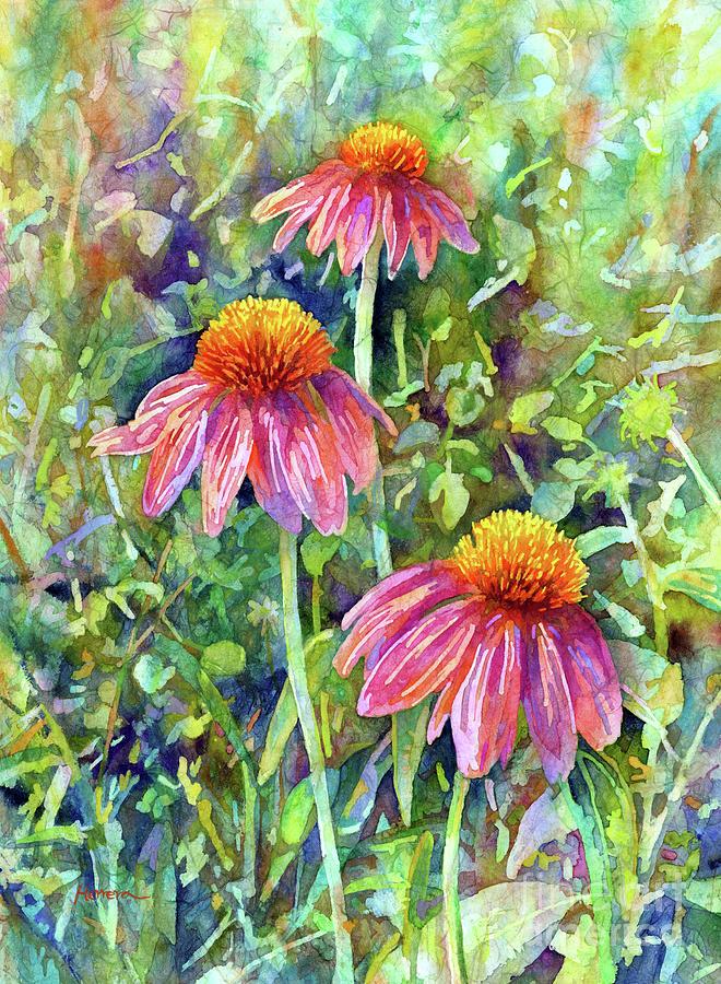 Coneflower Trio-pastel Colors Painting