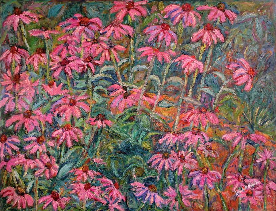 Cone Flowers Painting - Coneflowers by Kendall Kessler