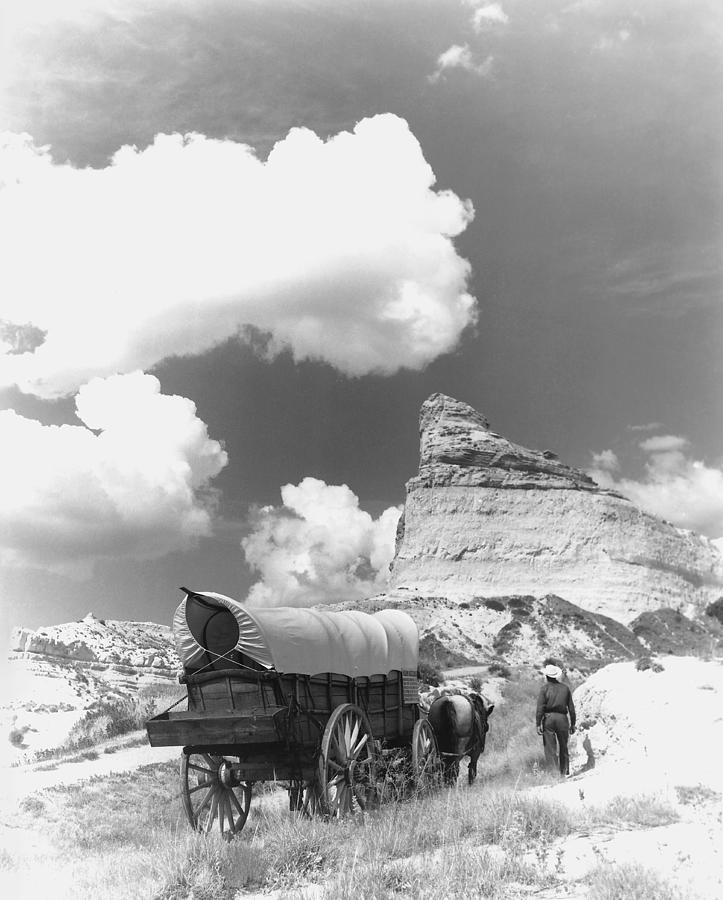 Conestoga Wagon On The Oregon Trail by War Is Hell Store