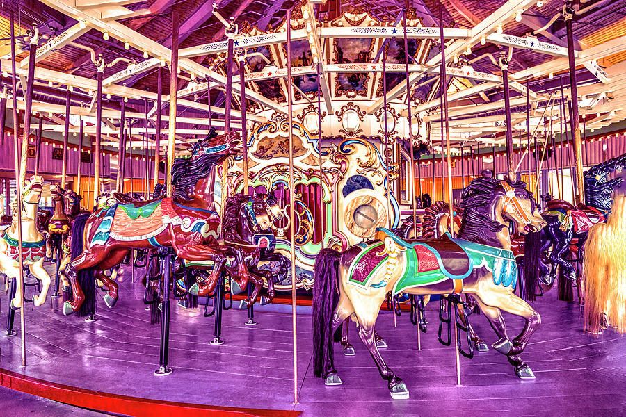Coney Island Carousel by Kay Brewer