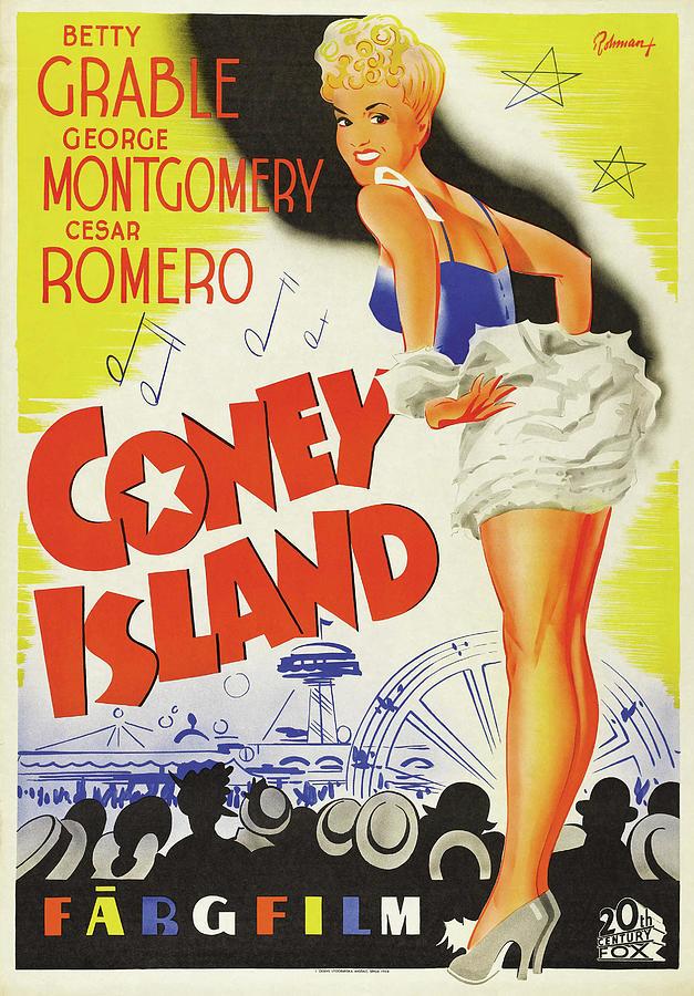 coney Island Poster 1943 Mixed Media