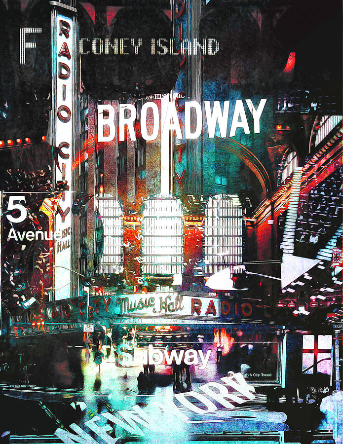 Coney island to broadway by Orenda Pixel Design