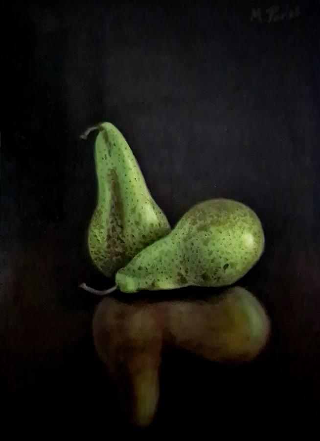 Pears Painting - Conference Pears by Marianne Pados