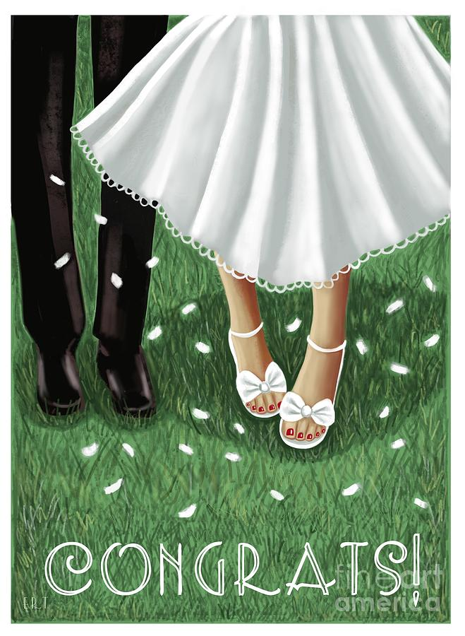 Congrats to the Bride and Groom by Elizabeth Robinette Tyndall