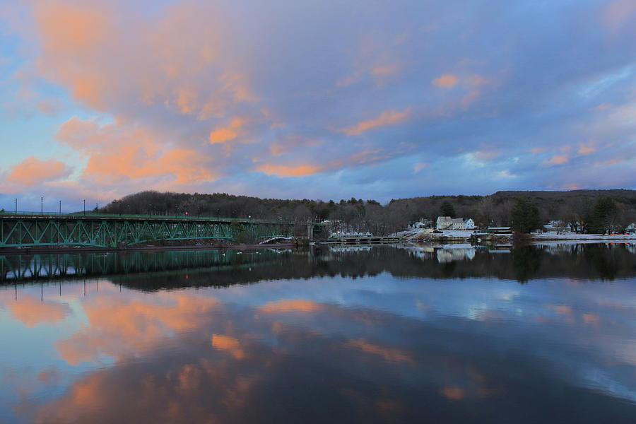 Connecticut River Turners Falls Sunset Photograph
