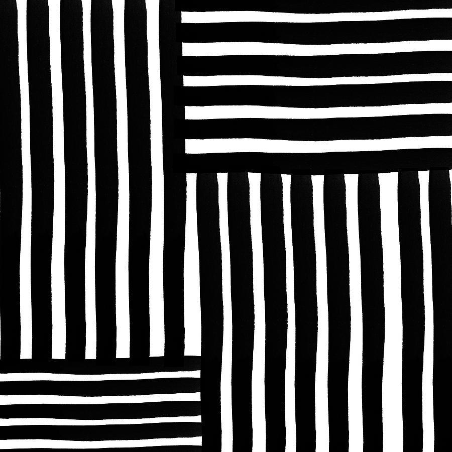 Modern Digital Art - Connecting Stripes- Art by Linda Woods by Linda Woods