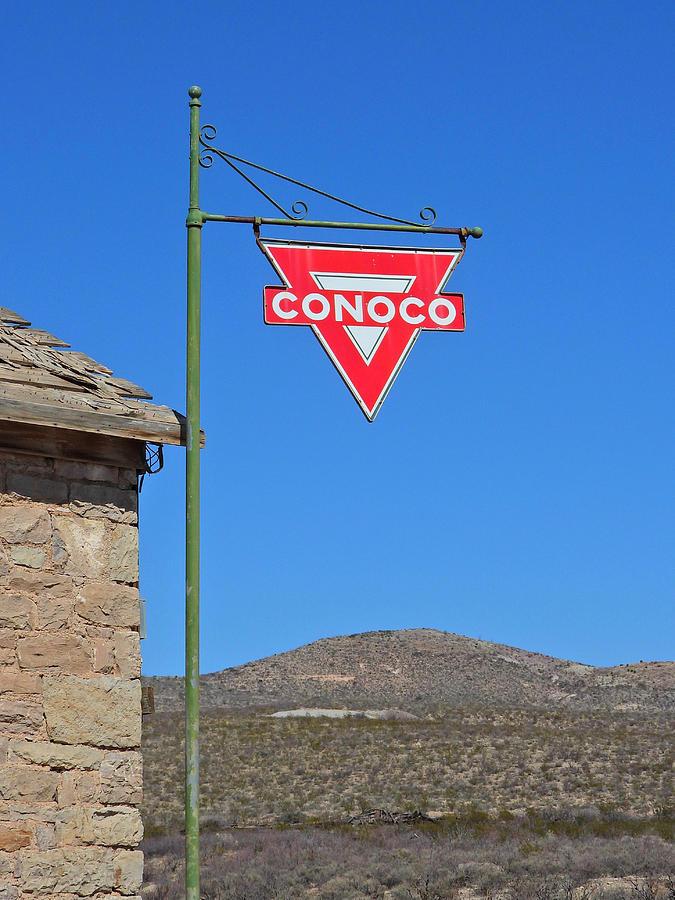 Conoco Sign Photograph