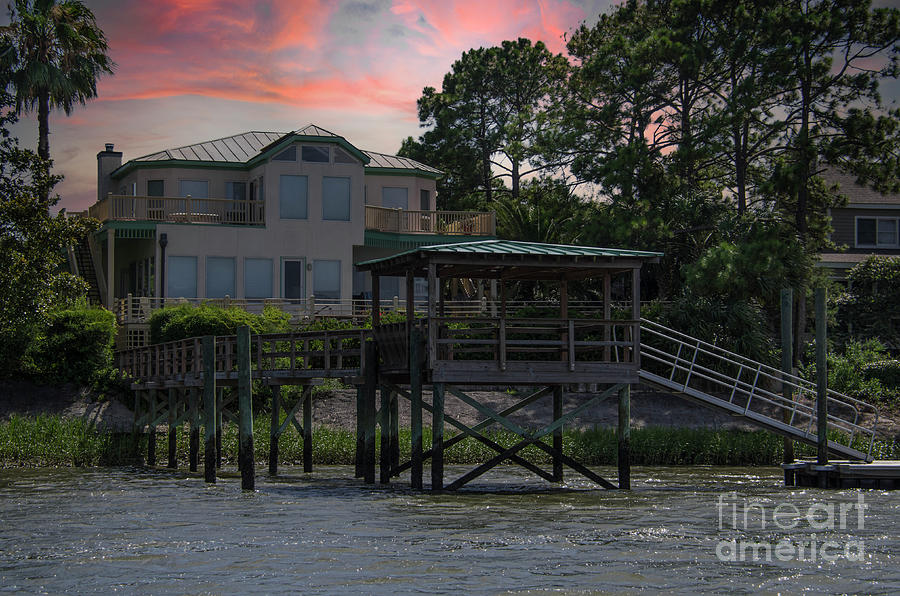 Dock Photograph - Conquest Ave Sullivans Island SC by Dale Powell