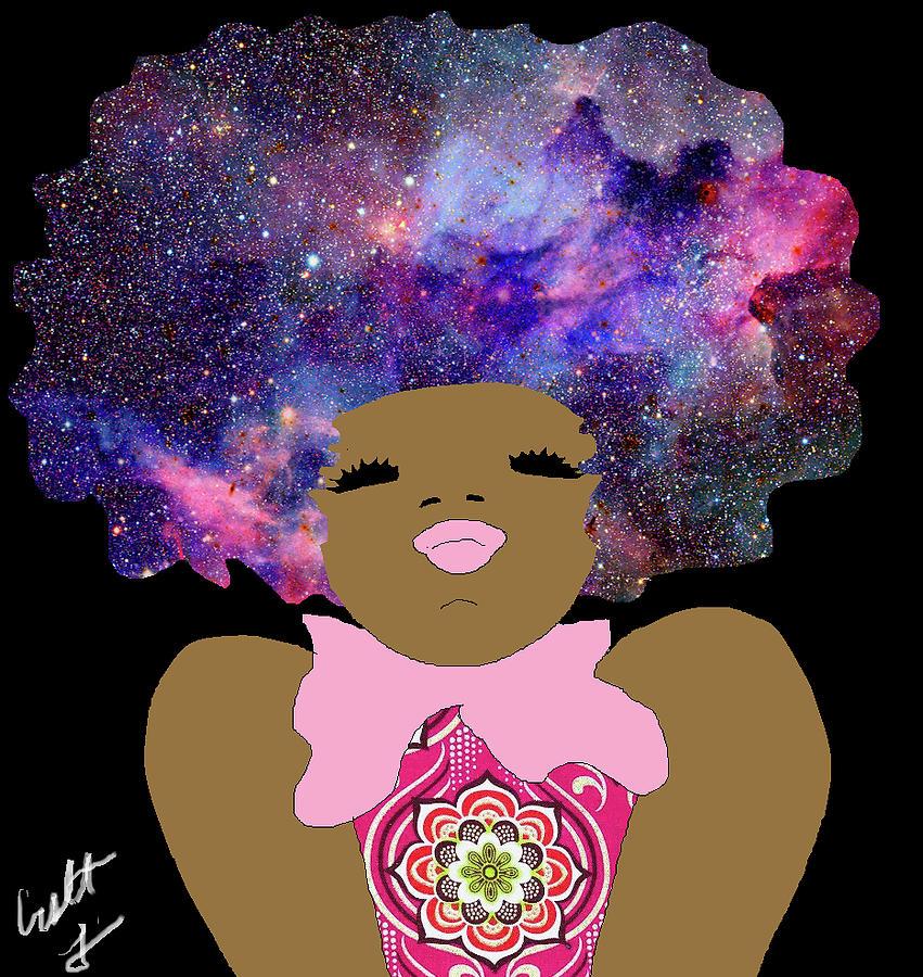 Black Girl Digital Art - Conscious  by Crystal Guidry