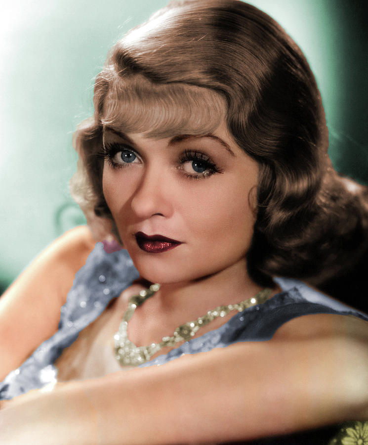 Constance Bennett Colorized Photograph
