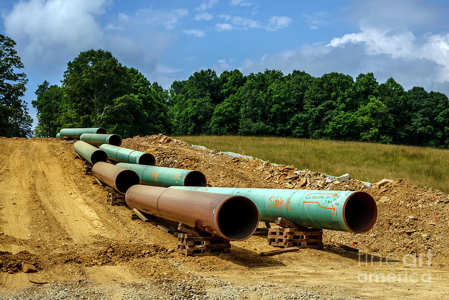 Consturction Mountain Valley Pipeline Photograph
