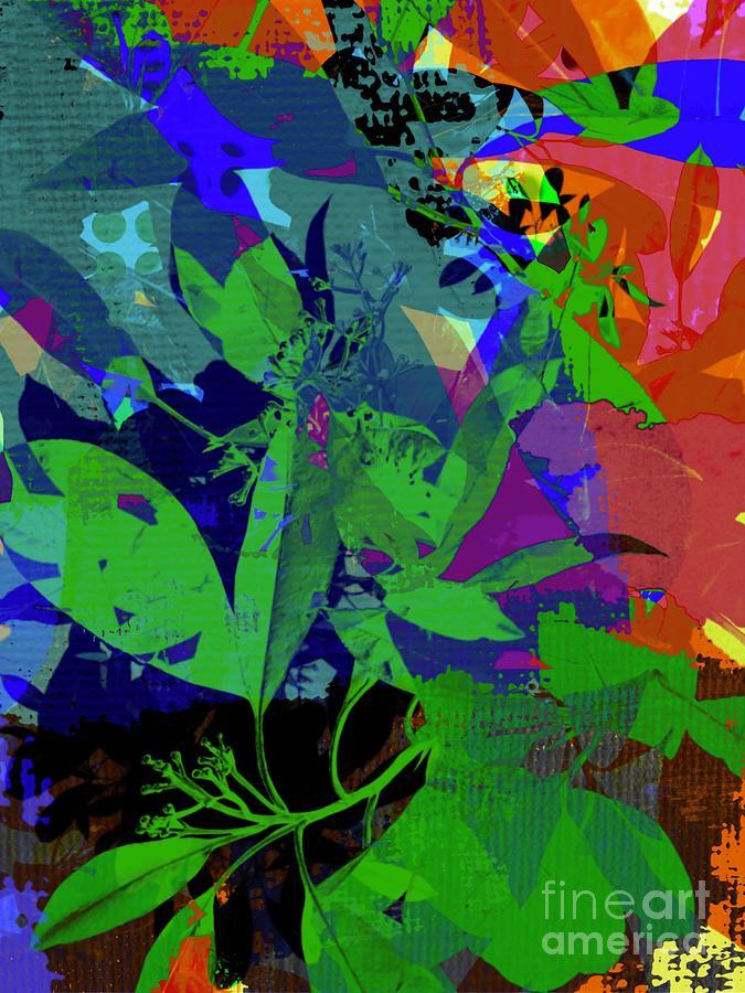 Contemporary Abstract Foliage Mixed Media