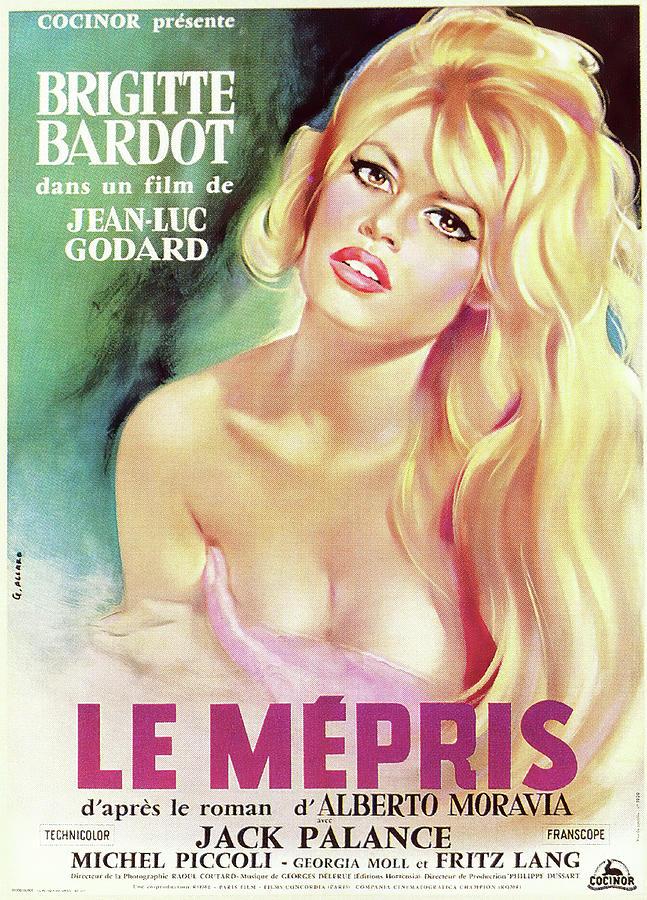 contempt, With Brigitte Bardot, 1963 Mixed Media