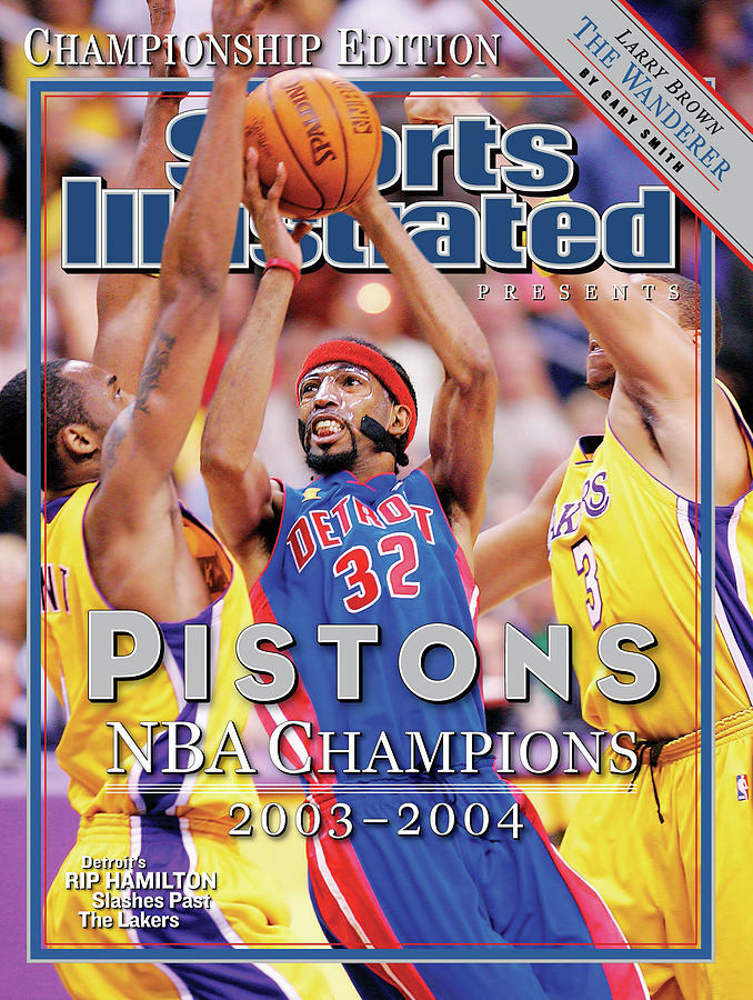 2004 Detroit Pistons NBA Championship Commemorative Issue Cover Photograph by Sports Illustrated