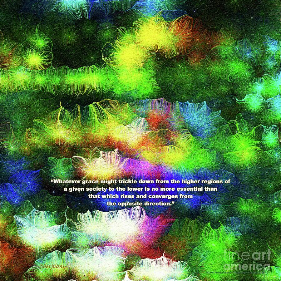 Education Mixed Media - Converging Grace Number 1 with Text by Aberjhani