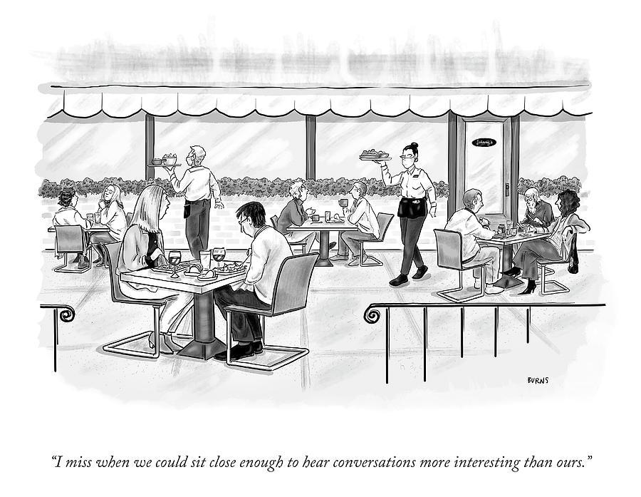 Conversations More Interesting Drawing by Teresa Burns Parkhurst