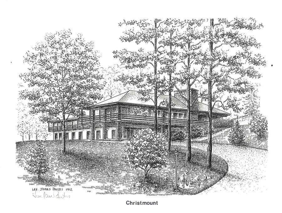 Black Mountain Drawing - Cook Guesthouse at Christmount by Lee Pantas