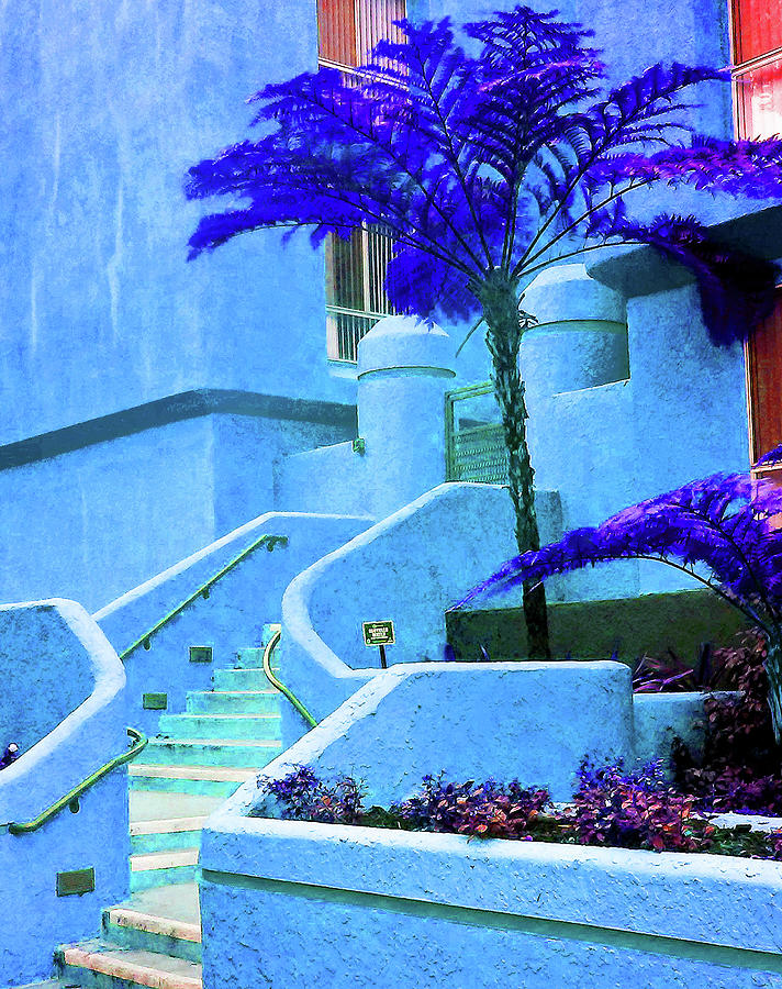 Cool Blue Stairway by Andrew Lawrence