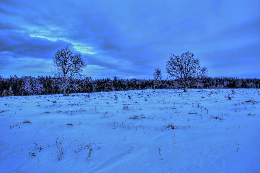 Cool Blue Winter Sunset by Dale Kauzlaric