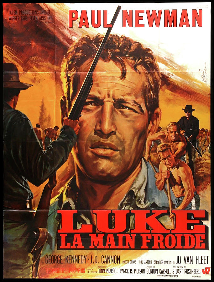 cool Hand Luke French Poster 1967 Mixed Media
