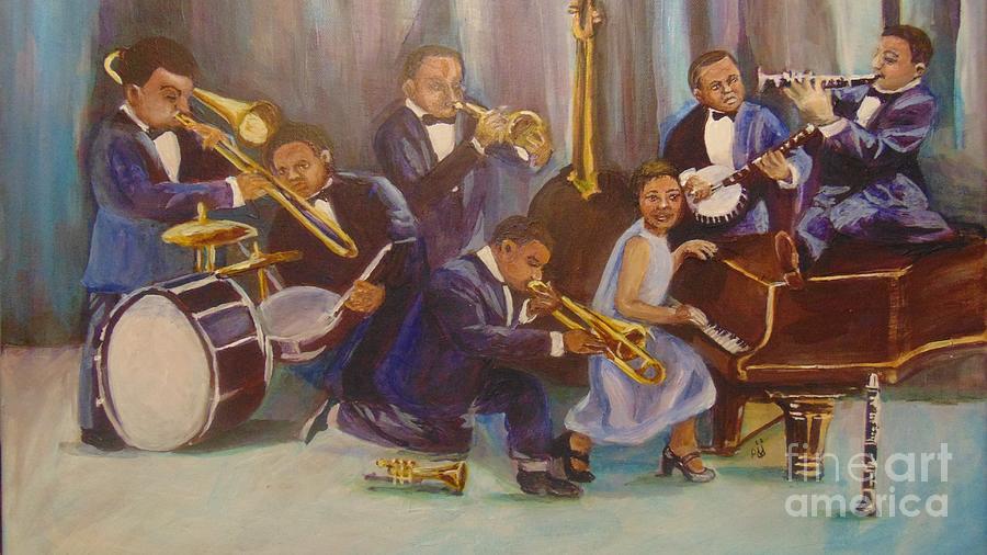 Jazz Painting - Cool Jazz by Saundra Johnson